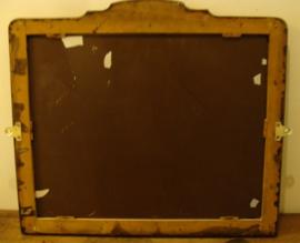 Spiegel facet origineel 56 x 49 eiken lijst hout (nr 96)