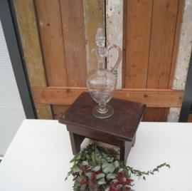 Karaf met stop glas 35,5 cm hoog