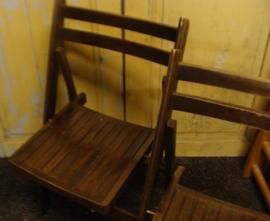 Eetkamer stoel hout opklapbaar donker bruin