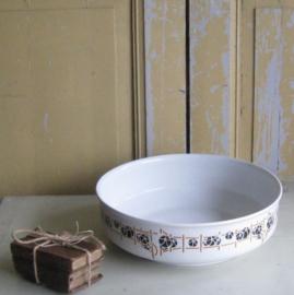 Schaal lampet wit met motief diameter 35 cm