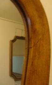 Spiegel origineel 54 x 79 licht eiken lijst hout (72)