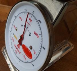 Keuken weegschaal Keylard tot 4 kilo origineel chroom