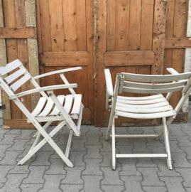 Strand stoelen hout wit latten tuinstoel VERKOCHT