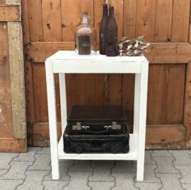 Haltafel side table 1930 bijzettafel wit 76 cm hoog