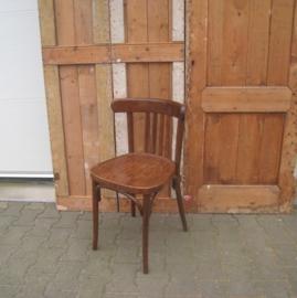 Eetkamer stoel cafe hout origineel bruin