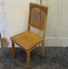 Eetkamer stoel hout bruin origineel 1920 1930
