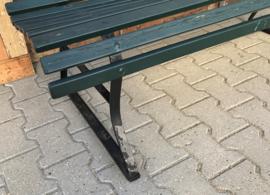 Tuinbank 150 cm breed metaal hout VERKOCHT