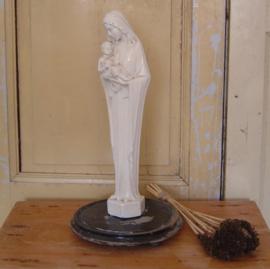 Maria met kind beeld  wit 48 cm VERKOCHT
