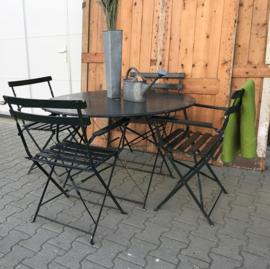 Tuinset Frankrijk 4 stoel tafel metaal GERESERVEERD