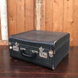 Accordeon koffer brocante zwart 44 x 46