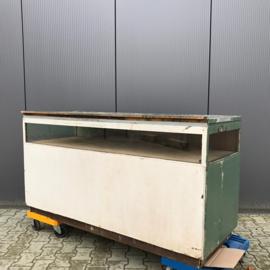 Werkbank toonbank hout industrieel werktafel