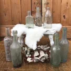 Fles oud 7 stuks drankfles limonade origineel