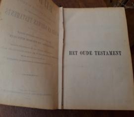 Bijbel 1891 origineel 21,5 x 14,5 x 4,5 fraaie kaft