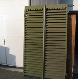 Luiken hout louvre raamluiken groen 232 cm