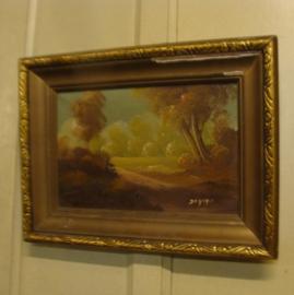 Schilderij in brocante lijst  Da Grysr
