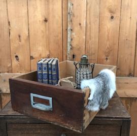 Houten kist lade la hout met handvat industrie