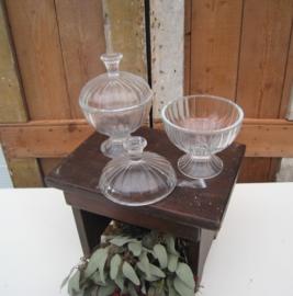 Bonbonniere glas origineel hoogte 17 cm