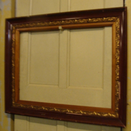 Lijst kader decoratie hout met goud brons