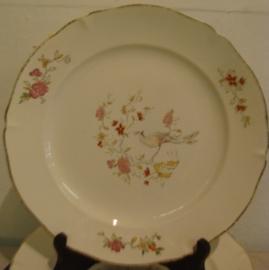 Bord afbeelding bloem en vogel Regence