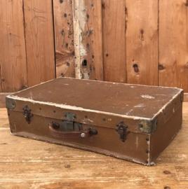 Koffer bruin kinder koffertje 50 x 29 x 13 origineel