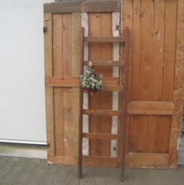 Houten ladder trap 6 treden origineel 160 cm