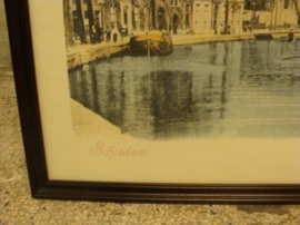 Schiedam Lange Haven afbeelding in lijst 70 x 48 GERESERVEERD