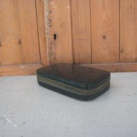 Luxe reis toilet set koffer koffertje groen origineel