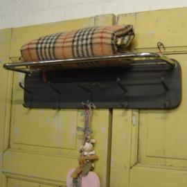 Kapstok wandmodel brocante hout 80 cm breed hoedenrek