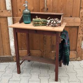 Kaptafel hal tafel origineel hout toilet bad
