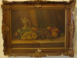 Schilderij stilleven barok lijst 89,5 x 69
