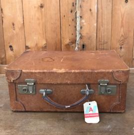 Koffer leer bruin 44,5 cm origineel VERKOCHT