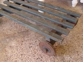 Kar hout trekkar oud antiek kinder houten 84 x 40 x 21