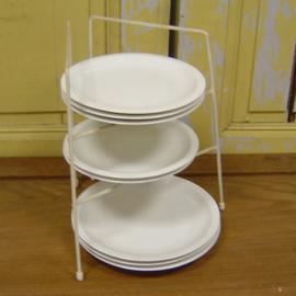 Rek keuken borden origineel wit retro vintage