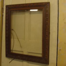 Lijst/ kader orgineel jaren '30 hout met glas (no 0010)
