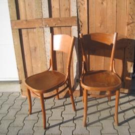 Eetkamer stoel cafe model origineel hout