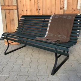 Tuinbank 150 cm breed metaal hout groen