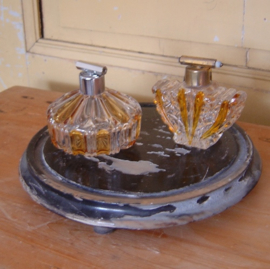 Parfum fles verstuiver twee modellen glas