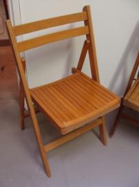 Eetkamer stoel hout opklapbaar licht bruin