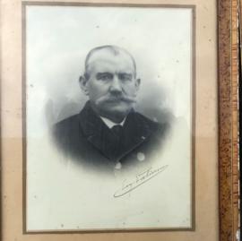 Foto oud portret in lijst origineel Frankrijk