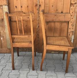 Eetkamerstoel hout origineel 1920 1930 webbing