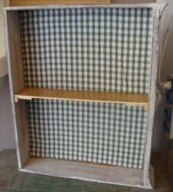 Wandkastje lade los oud hout zacht wit