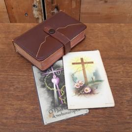 Psalmen gezangen boek 1938 met bidprenten