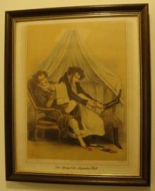 Lijst origineel afbeelding 2 heren Spiegel Eleganten Welt (no 0015)