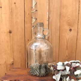 Stolp glas fles model rond 12,5 cm diameter