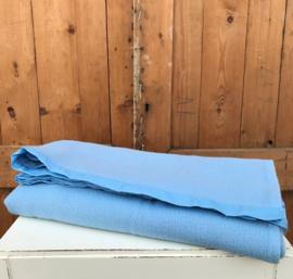 Kinder deken wol origineel blauw 122 x 227