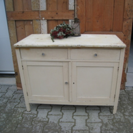 Commode brocante wit creme VERKOCHT