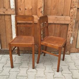 Eetkamerstoel hout origineel 1920 1930 Frankrijk