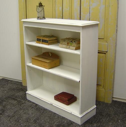 Boekenkast halkast lage kast wit VERKOCHT