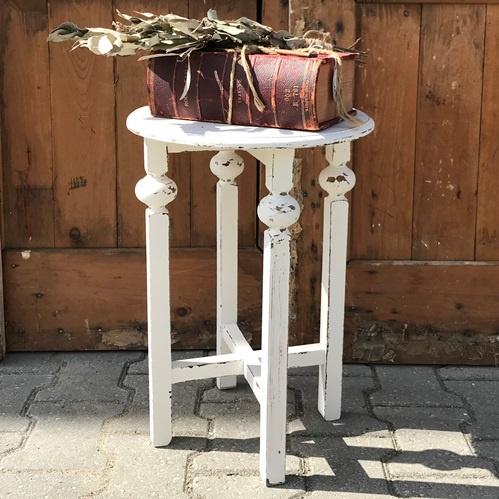 Bijzet tafel wit bloem planten 50 cm hoog