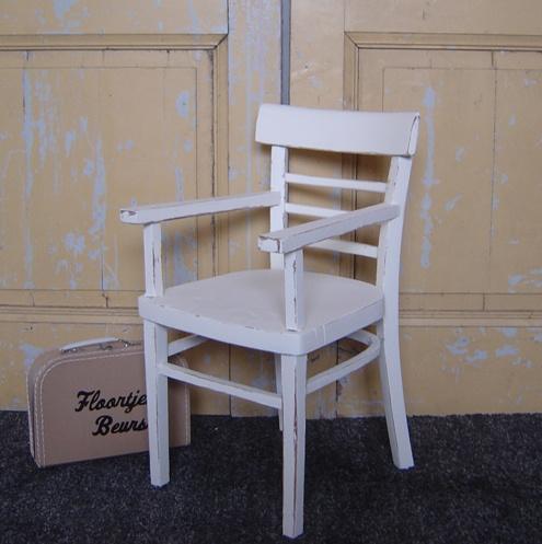Brocante Kinder Stoel.Kinderstoel Wit Brocante Stoeltje Hout Verkocht Sorry